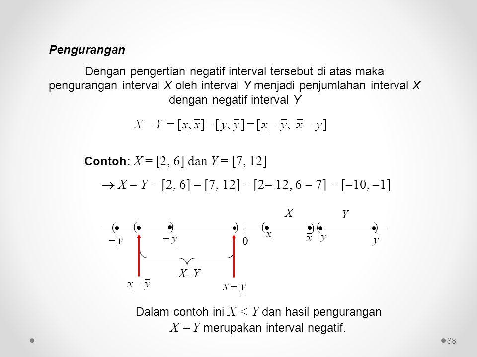  X  Y = [2, 6]  [7, 12] = [2 12, 6  7] = [10, 1]